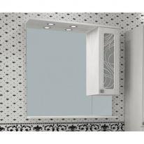 Шкаф-зеркало Альфа Кристалл 85 ASB-Mebel