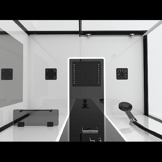 Душевая кабина Black&White G8800