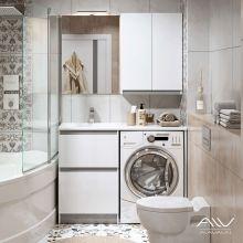 Комплект мебели Alavann Soft Silver 120