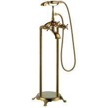 Напольный смеситель для ванны Gemy G7096 Золото