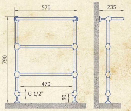 Полотенцесушитель Exemet Clio U 790/570
