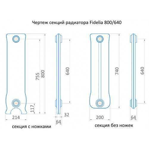 Радиатор чугунный Exemet Fidelia 800/640