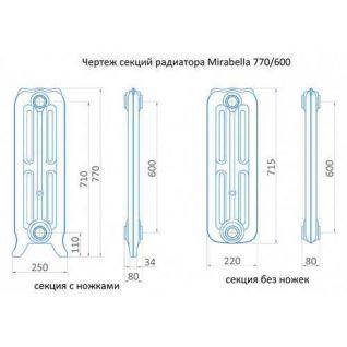 Радиатор чугунный Exemet Mirabella 770/600