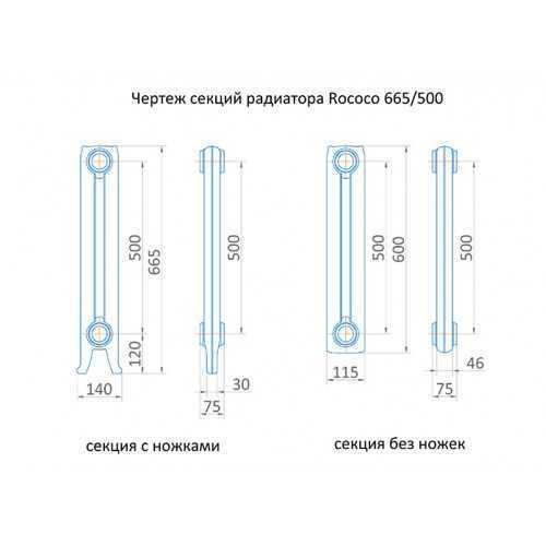 Радиатор чугунный Exemet Rococo 665/500