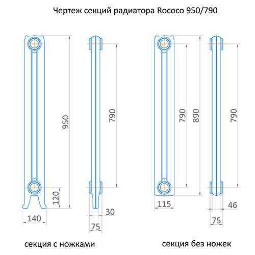 Радиатор чугунный Exemet Rococo 950/790