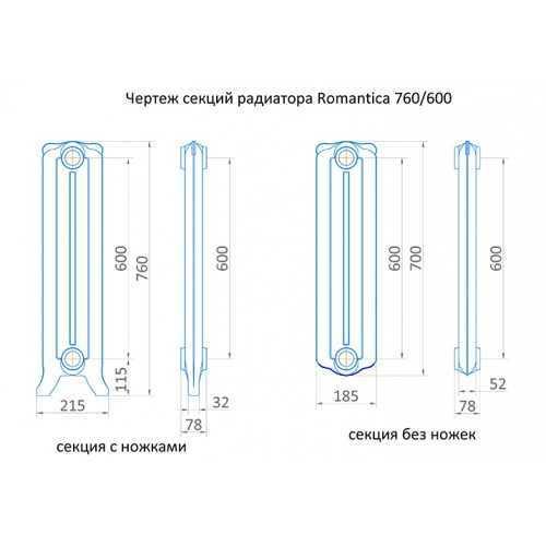 Радиатор чугунный Exemet Romantica 760/600