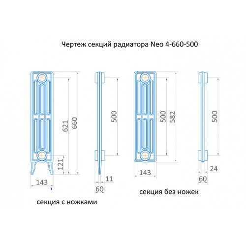 Радиатор чугунный трубчатый Exemet Neo 660/500
