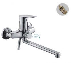 Смеситель для ванны и душа FRAP H703 F22703-B