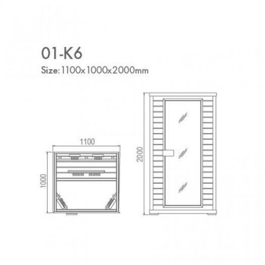 Инфракрасная сауна Koy H01-K6