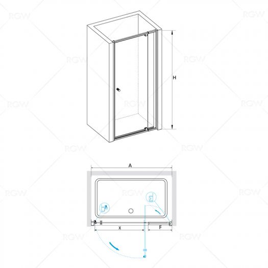 Душевая дверь в нишу RGW Passage PA-02 900х1850 шиншила