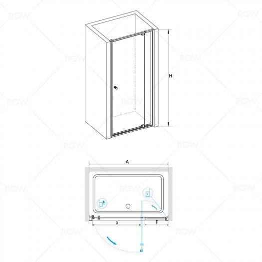Душевая дверь в нишу RGW Passage PA-02 1000х1850 шиншила