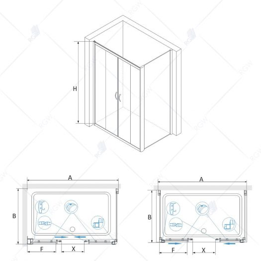 Душевой уголок RGW Passage PA-41 1700x800 прозрачное