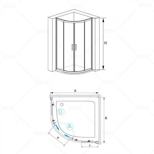 Душевой уголок RGW Passage PA-50 800х800 прозрачное