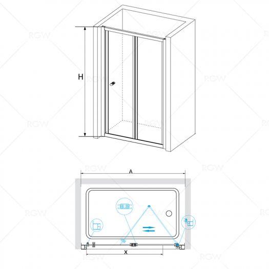 Душевая дверь RGW Classik CL-21 800 шиншила