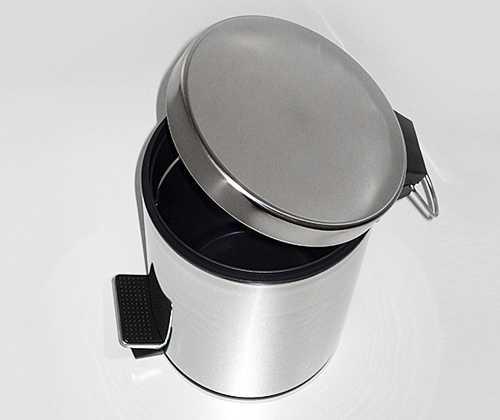 Ведро для мусора WasserKRAFT K-633, с педалью, 3 л
