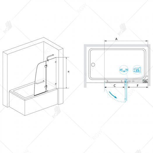 Душевая шторка RGW Screens SC-13 1000 прозрачное