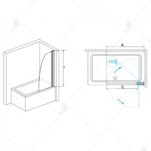 Душевая шторка RGW Screens SC-36 700 прозрачное