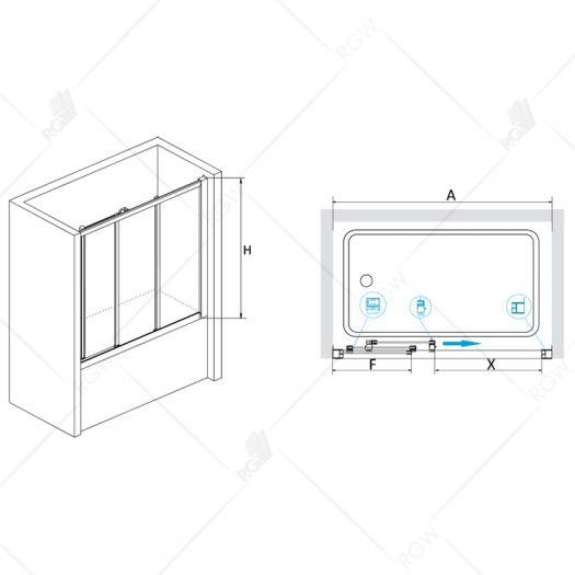 Душевая шторка RGW Screens SC-41 1700 шиншила
