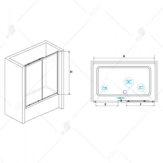 Душевая шторка RGW Screens SC-42 1700 шиншила
