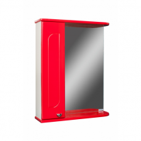 Шкаф-зеркало Радуга Красный 50 АЙСБЕРГ