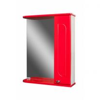 Шкаф-зеркало Радуга Красный 55 правый АЙСБЕРГ
