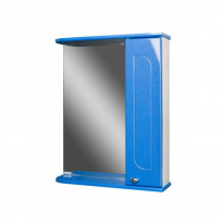 Шкаф-зеркало Радуга Синий металлик 60 правый АЙСБЕРГ
