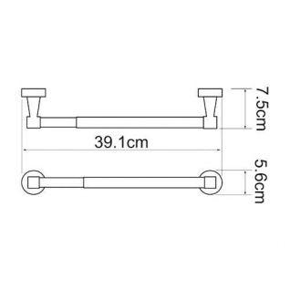 Держатель для бумажных полотенец WasserKRAFT Isen K-4022, 32 см