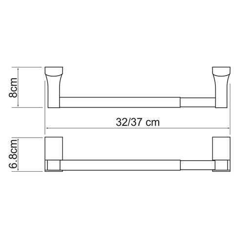 Держатель для бумажных полотенец WasserKRAFT Leine K-5022, 32 см