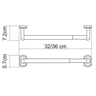 Держатель для бумажных полотенец WasserKRAFT Oder K-3022, 32см