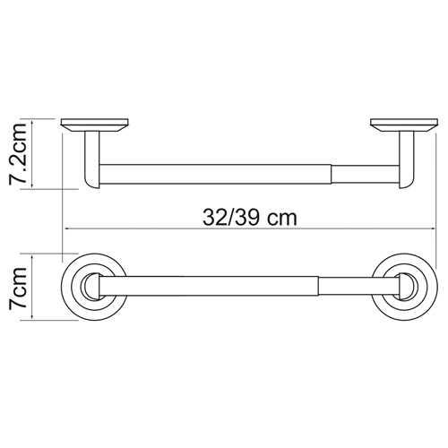 Держатель для бумажных полотенец WasserKRAFT Rhein K-6222, 32см