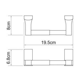 Держатель для туалетной бумаги WasserKRAF Leine K-5022