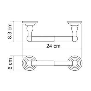 Держатель для туалетной бумаги WasserKRAFT Ammer K-7022