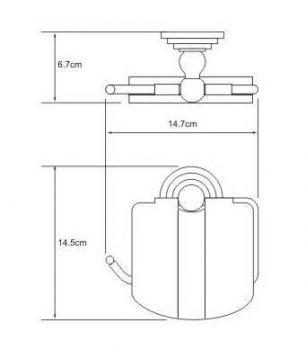 Держатель для туалетной бумаги WasserKRAFT Ammer K-7025, с крышкой