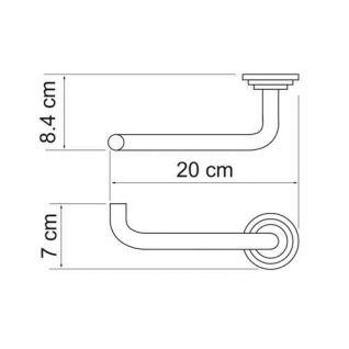Держатель для туалетной бумаги WasserKRAFT Ammer K-7096