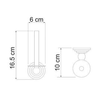 Держатель для туалетной бумаги WasserKRAFT Ammer K-7097, вертикальный