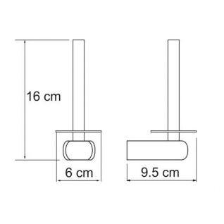 Держатель для туалетной бумаги WasserKRAFT Berkel K-6897, вертикальный