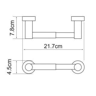 Держатель для туалетной бумаги WasserKRAFT Donau K-9422