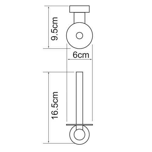 Держатель для туалетной бумаги WasserKRAFT Donau K-9497, вертикальный
