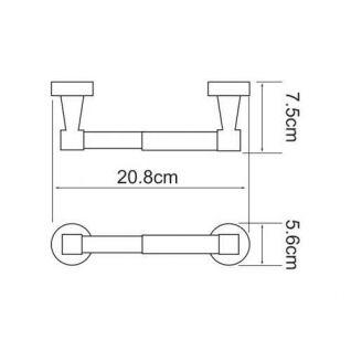 Держатель для туалетной бумаги WasserKRAFT Isen K-4022