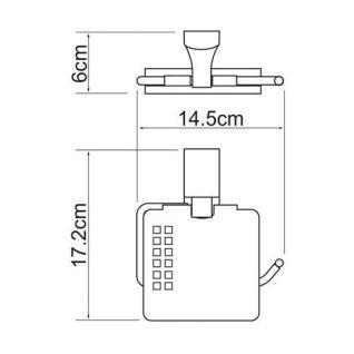 Держатель для туалетной бумаги WasserKRAFT Leine K-5025, с крышкой