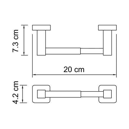Держатель для туалетной бумаги WasserKRAFT Lippe K-6522
