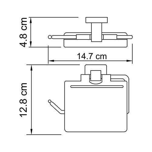 Держатель для туалетной бумаги WasserKRAFT Lippe K-6525, с крышкой