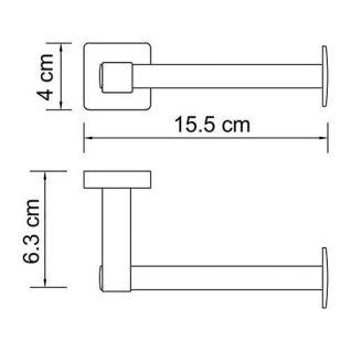 Держатель для туалетной бумаги WasserKRAFT Lippe K-6596