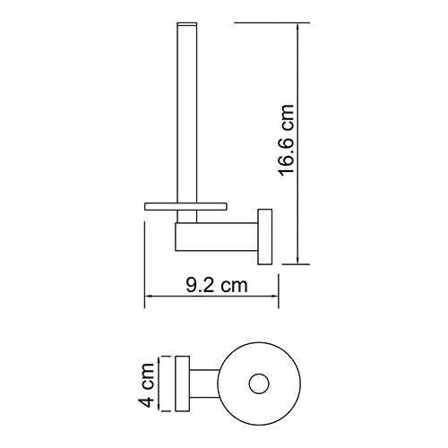 Держатель для туалетной бумаги WasserKRAFT Lippe K-6597, вертикальный