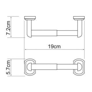 Держатель для туалетной бумаги WasserKRAFT Oder K-3022