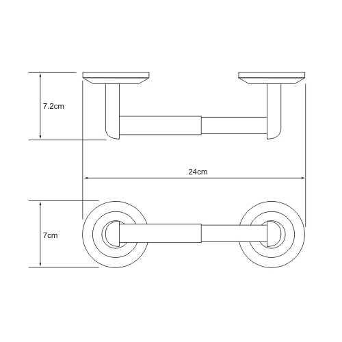 Держатель для туалетной бумаги WasserKRAFT Rhein K-6222