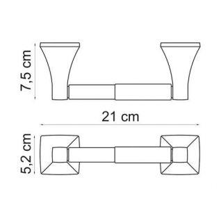 Держатель для туалетной бумаги WasserKRAFT Wern K-2522