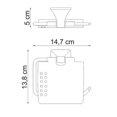 Держатель для туалетной бумаги WasserKRAFT Wern K-2525, с крышкой