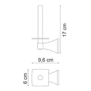 Держатель для туалетной бумаги WasserKRAFT Wern K-2597, вертикальный