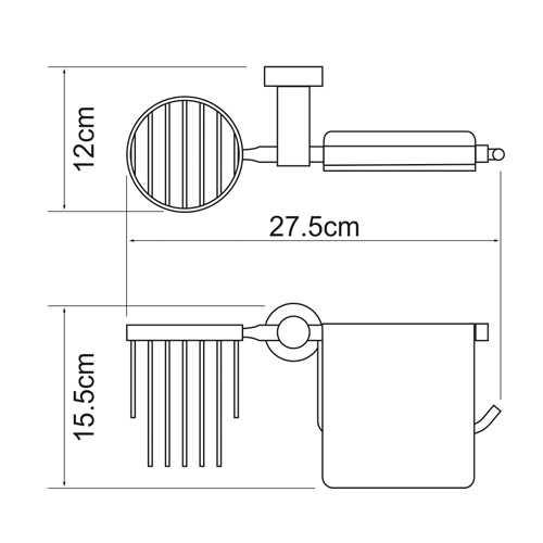 Держатель для туалетной бумаги и освежителя WasserKRAFT Donau K-9459